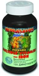 Витазаврики - жевательные мультивитаминные таблетки для детей (Children's Сhewable Vitamins - Vitasaurs) NSP 120 таблеток