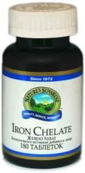 Биологически активная добавка (БАД) Iron Chelate (Железо Хелат) NSP 180 таблеток